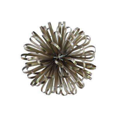 10.50 in. H Sculpture Decorative Sculpture in Champagne Electroplated