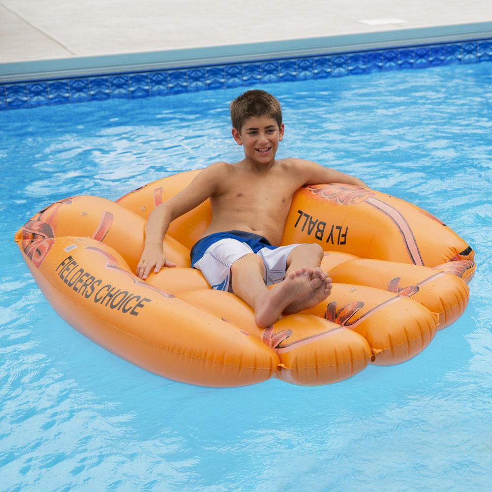 Ocean Blue Vinyl Big League Pool Float, Orange