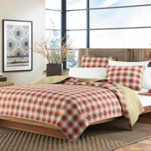 Ravenna Red Twin Quilt Set (2-Piece)