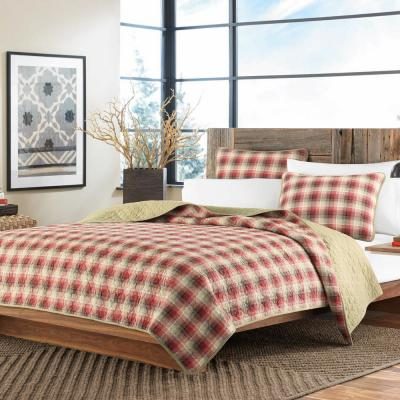 Ravenna Red Full/Queen Quilt Set (3-Piece)