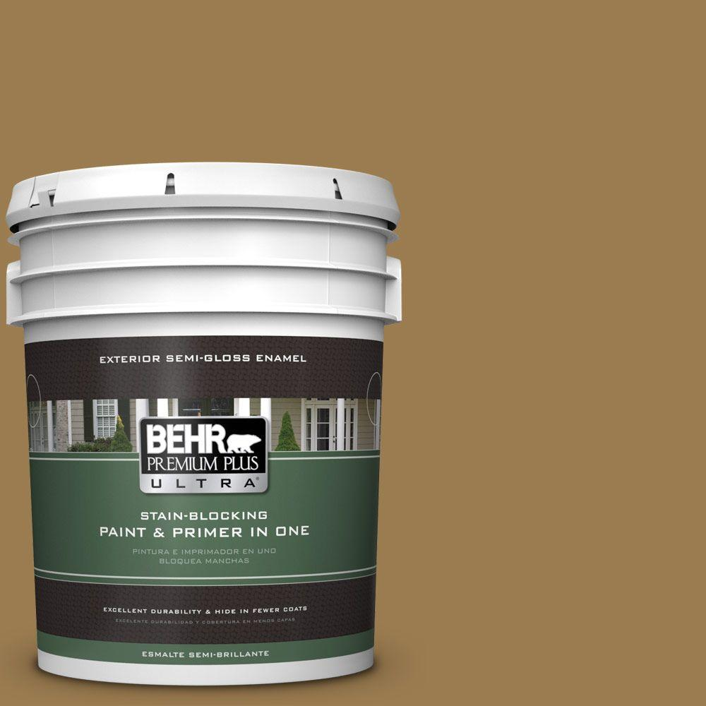 BEHR Premium Plus Ultra 5-gal. #320F-6 Wool Tweed Semi-Gloss Enamel Exterior Paint