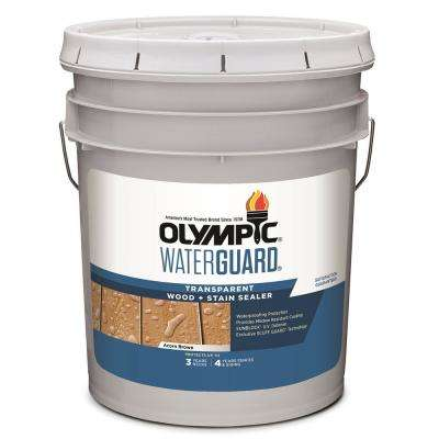 WaterGuard 5 gal. Acorn Brown Transparent Wood Stain and Sealer