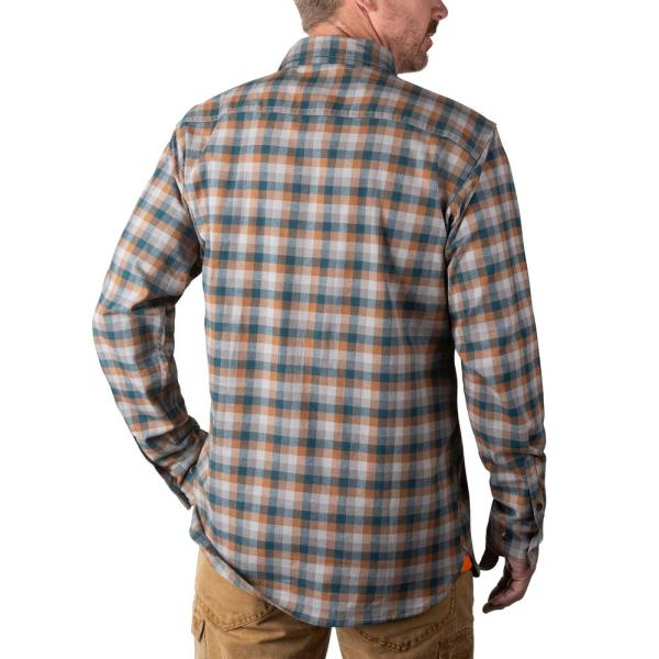 Walls Outdoor Goods Men S Longhorn Midweight Brushed Flannel Stretch Work Shirt Yl860nbg Xl The Home Depot