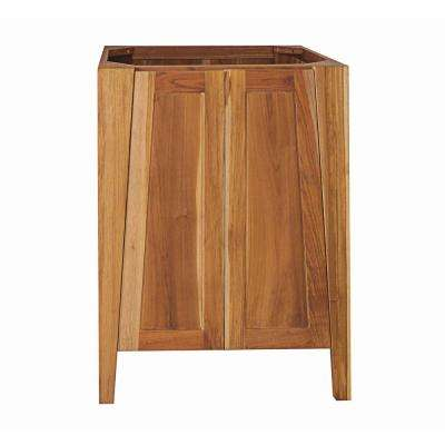 Significado 24 in. L Teak Vanity Cabinet Only in Natural Teak