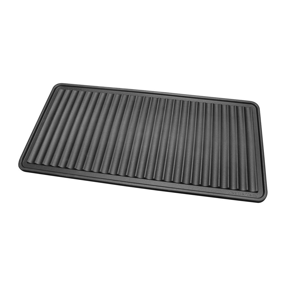 weathertech 16 in x 36 in boot tray idmbt1b the home depot. Black Bedroom Furniture Sets. Home Design Ideas