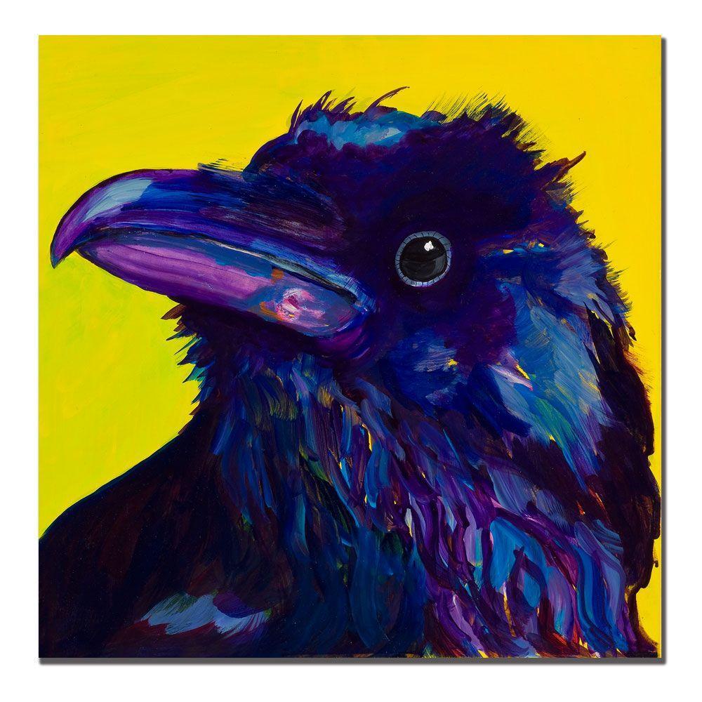 14 in. x 14 in. Corvus Canvas Art