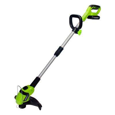 10 in. 20-Volt Lithium-Ion Cordless String Trimmer - 2 Ah Battery and Charger Included