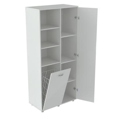 White Utility Storage Cabinet with Tilt Bin