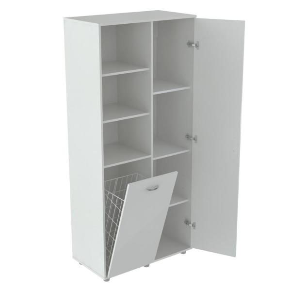 Inval White Utility Storage Cabinet with Tilt Bin GM-0440