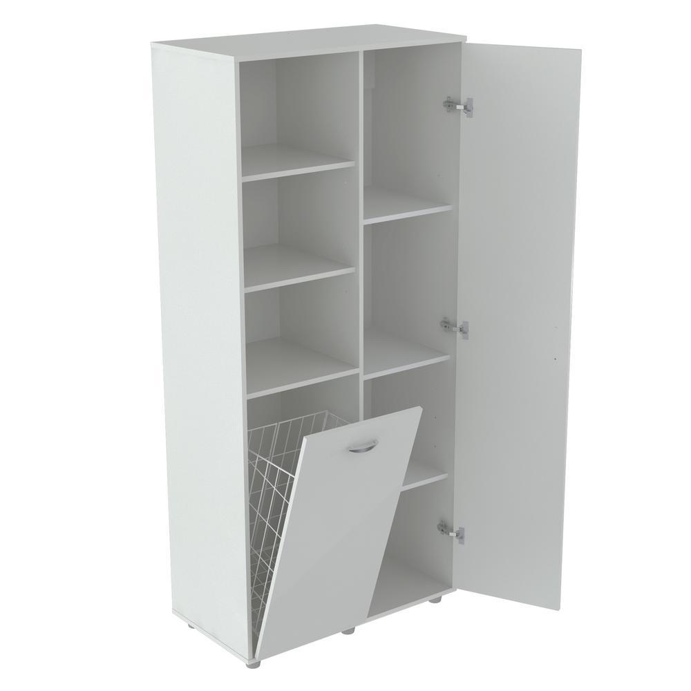 Inval White Utility Storage Cabinet with Tilt Bin GM-0440