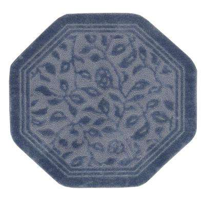 Wellington 48 in. x 48 in. Nylon Bath Rug in Blue