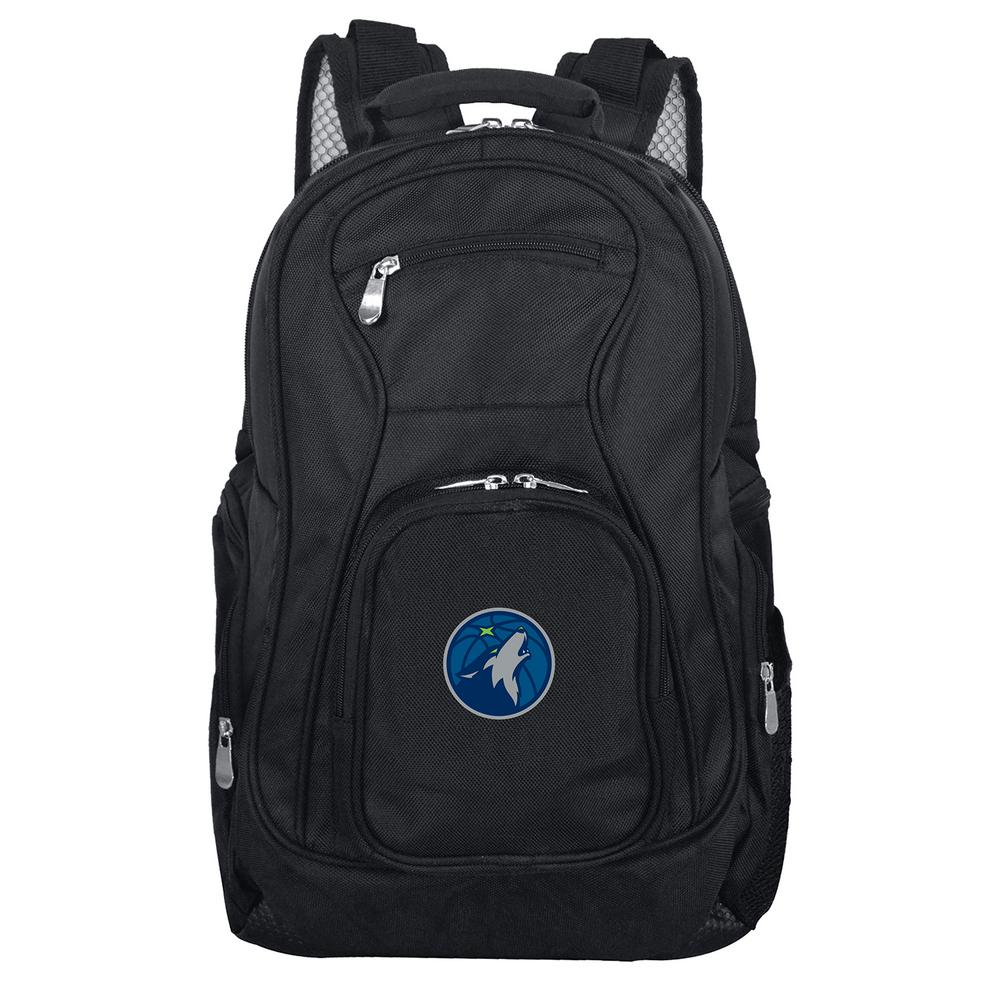 NBA Minnesota Timberwolves Black Backpack Laptop