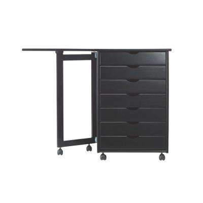 Stanton 21 in. W Single Gate Leg Storage Cart in Black