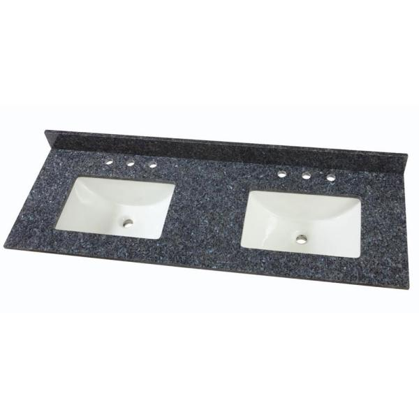 W Granite Double Sink Vanity Top