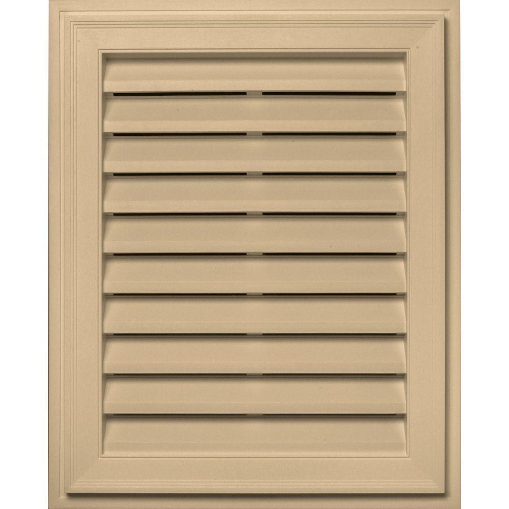 Builders Edge 20 in. x 30 in. Brickmould Gable Vent in Sandstone Maple