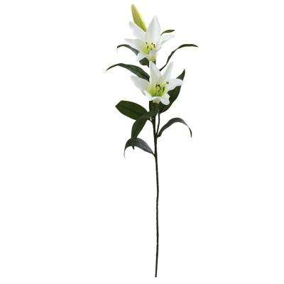 Indoor 26.5 in. Lily Artificial Flower (Set of 12)