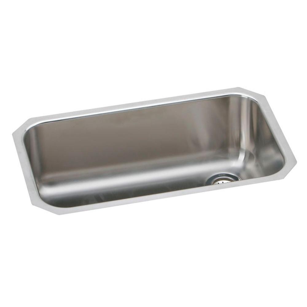 Elkay Gourmet Elumina Undermount Stainless Steel 30.5 In. 0 Hole Single Bowl  Kitchen Sink