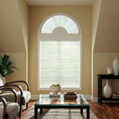 Faux Wood Blind Arch