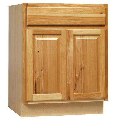 Hampton Assembled 30 x 34.5 x 21 in. Bathroom Vanity Base Cabinet in Natural Hickory