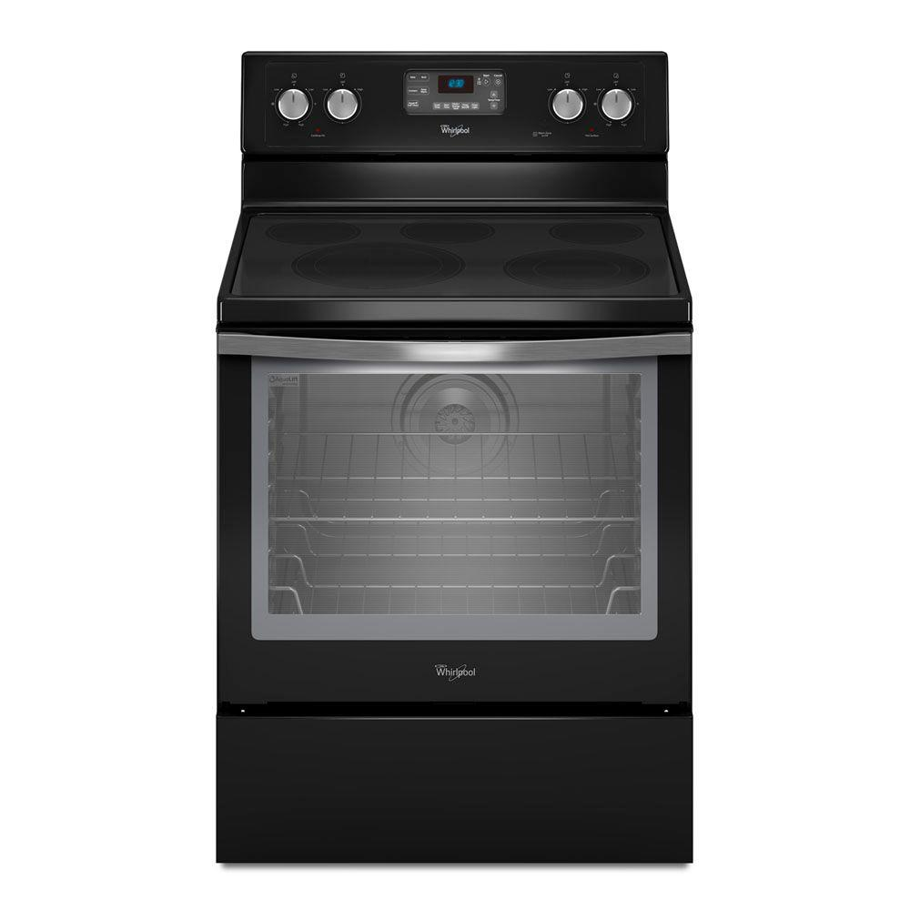 Whirlpool 6.2 cu. ft. Electric Range with Self-Cleaning Convection Oven in Black Ice