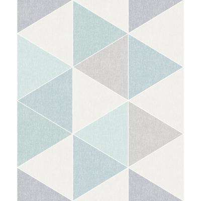 Scandi Triangle Teal Wallpaper