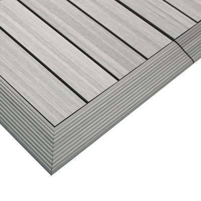 1/6 ft. x 1 ft. Quick Deck Composite Deck Tile Outside Corner Trim in Icelandic Smoke White (2-Pieces/Box)
