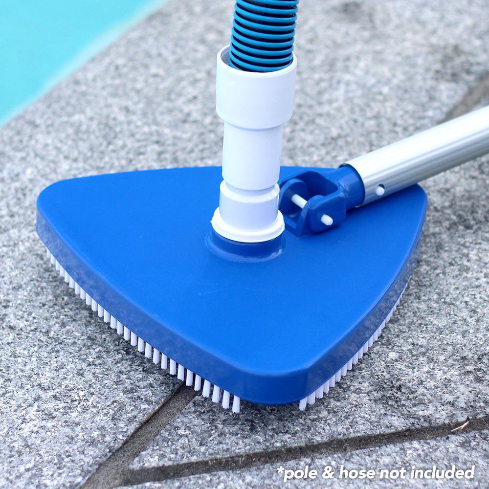 Vacuum Head Triangular Swimming Pool Brush Spa Tub Floor Cleaner ...