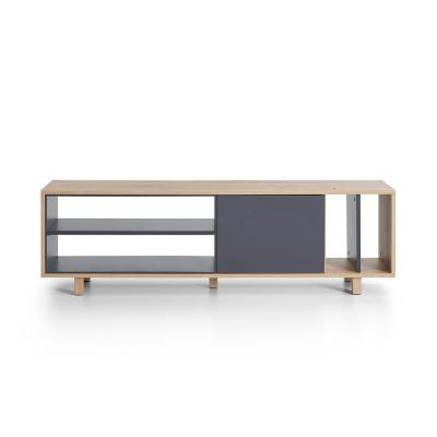 Tippah Oak and Anthracite Modern TV Stand