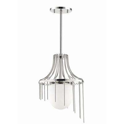 Kylie 1-Light 12 in. W Polished Nickel Pendant