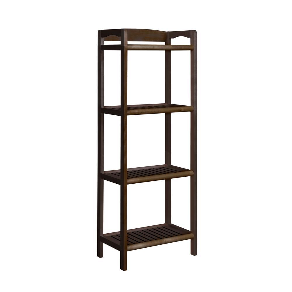 New Ridge Home Goods Abingdon Espresso Tall Bookcase 2282-ESP
