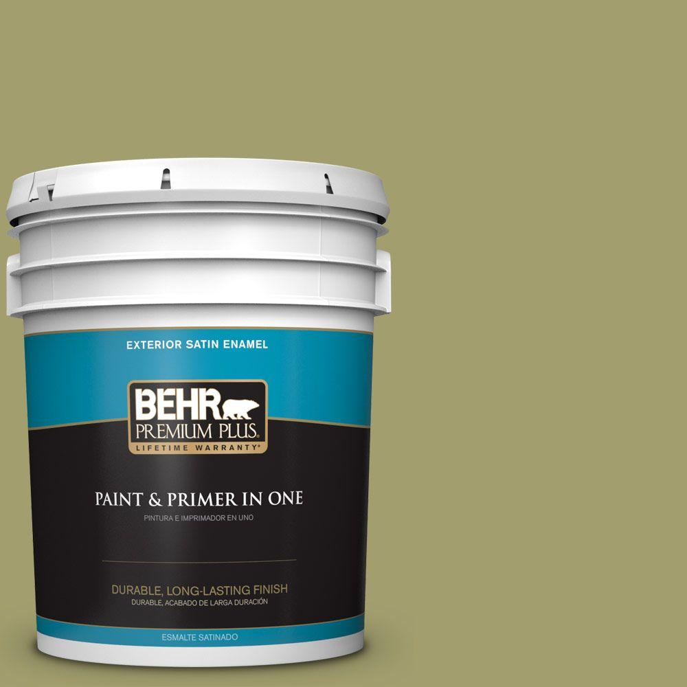 5-gal. #S340-5 Farm Fresh Satin Enamel Exterior Paint