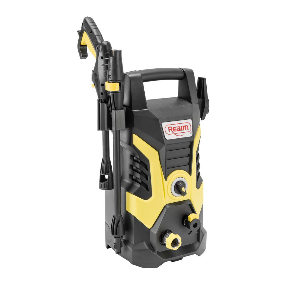 Realm BY02-BCON Electric Pressure Washer, 2000 PSI, 1.75 GPM, 13 Amp, Yellow Black