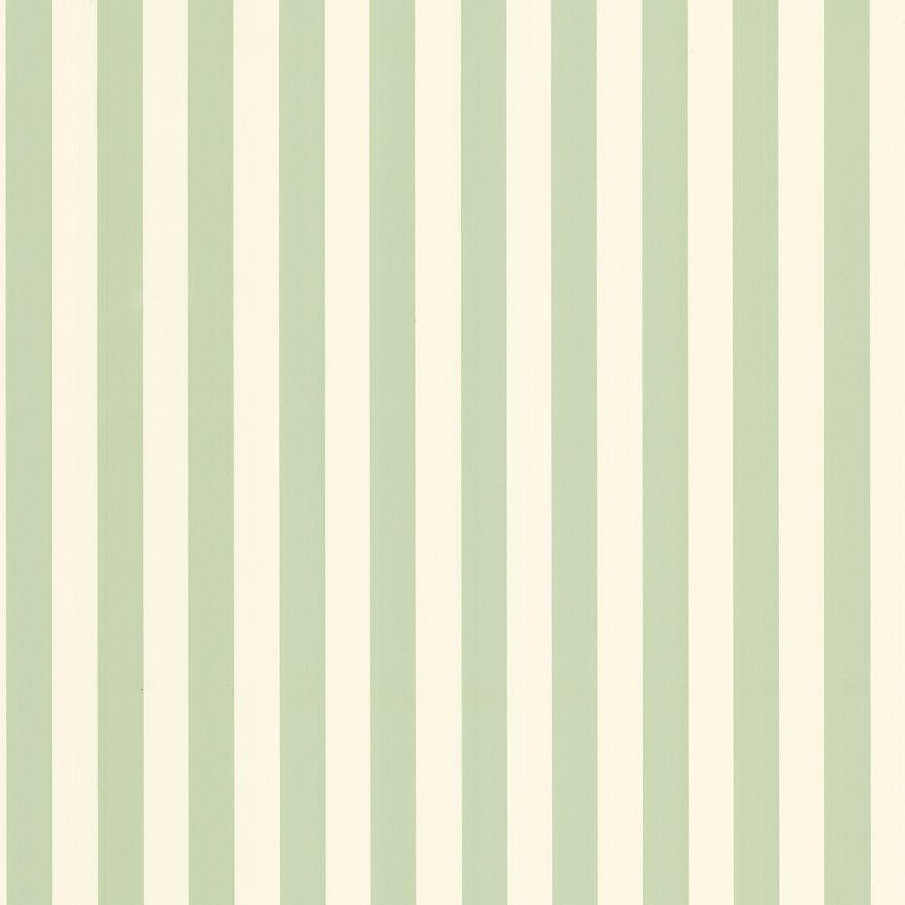The Wallpaper Company 56 sq. ft. Green Pastel Two Tone Stripe Wallpaper