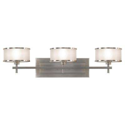 Casual Luxury 3-Light Brushed Steel Vanity Light