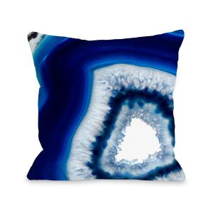 Click here to buy  Geode Abyss Silver 16 inch x 16 inch Decorative Pillow.