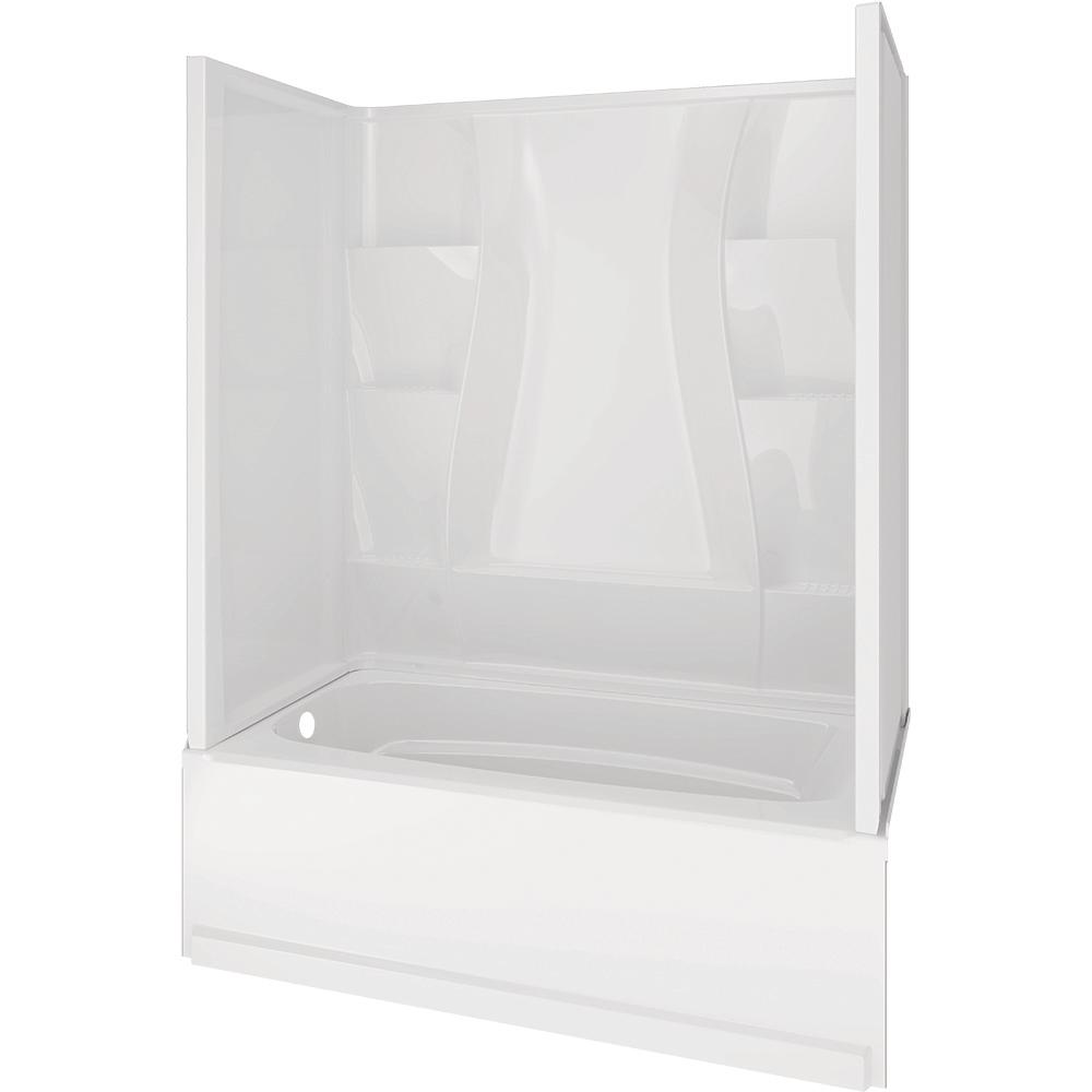 Delta Classic 400 32 in. x 60 in. x 80 in. Standard Fit Bath and ...