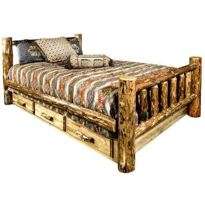 Glacier Country Puritan Pine Queen Storage Bed