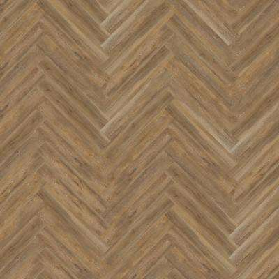 Blue Ridge Oak 4.72 in. x 28.35 in. Herringbone Luxury Vinyl Plank Flooring (22.31 sq. ft. / case)