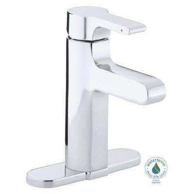 Singulier Single Hole Single-Handle Bathroom Faucet in Polished Chrome