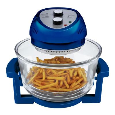 16 Qt. Blue Oil-less Air Fryer with Built-In Timer