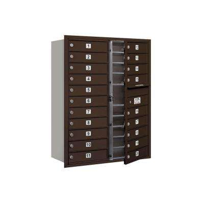 3700 Series 41 in. 11 Door High Unit Bronze Private Front Loading 4C Horizontal Mailbox with 20 MB1 Doors