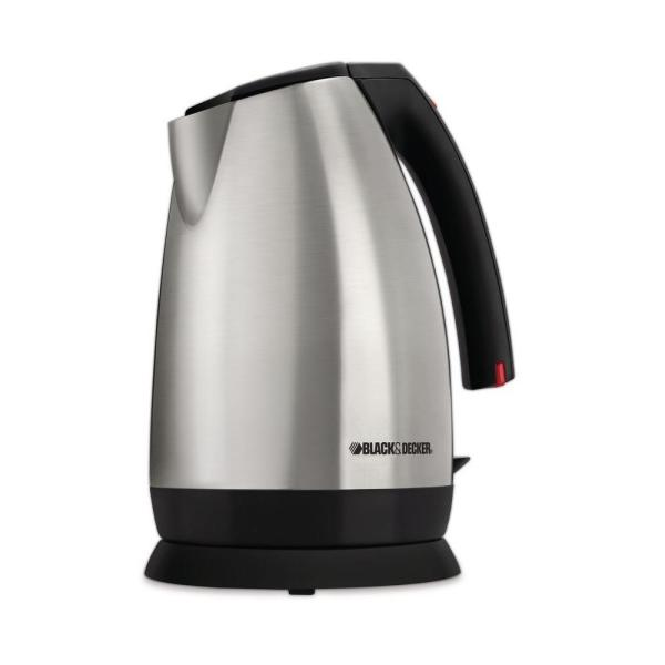 BLACK+DECKER 11-Cup Stainless Steel Cordless Electric Kettle with Automatic