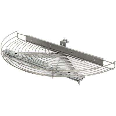 3.25 in. x 27.81 in. x 13 in. Glide Half Moon Platinum Wire Lazy Susan