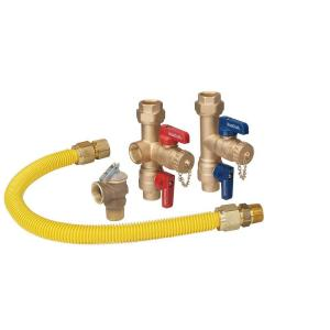 Tankless Water Heater Kit with 3/4 in. Sweat x IPS Service Valves, 24 in. Gas Connector (290,900 BTU) and PR Valve