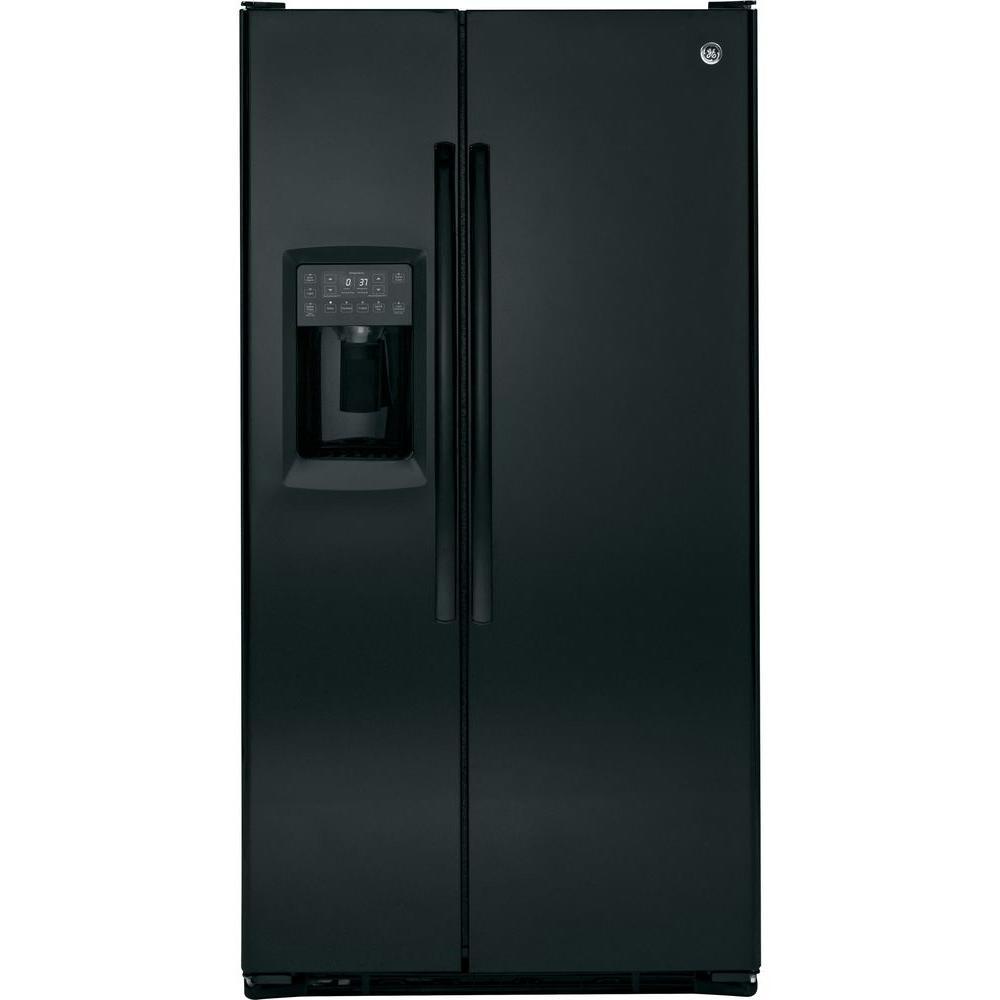 GE Profile 23.34 cu. ft. Side by Side Refrigerator in Black, Counter Depth
