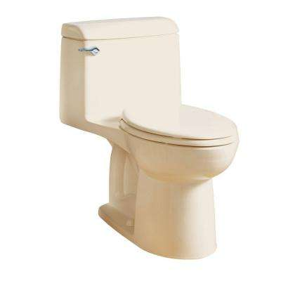 Champion 4 Tall Height 1-Piece 1.6 GPF Single Flush Elongated Toilet in Bone, Seat Included