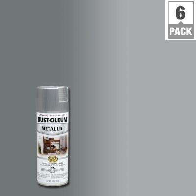 11 oz. Silver Protective Enamel Metallic Spray Paint (6-Pack)