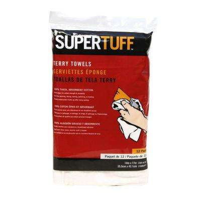 14 in. x 17 in. White Terry Towels - (Bag of 12)