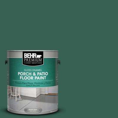1 gal. #M430-7 Green Agate Gloss Interior/Exterior Porch and Patio Floor Paint
