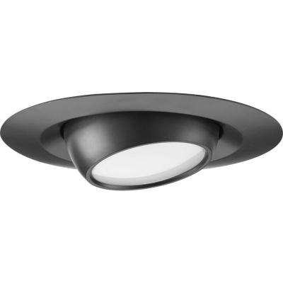 6 in. Black Integrated LED Recessed Trim